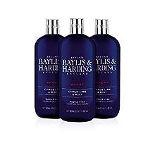 Baylis & Harding Feuchtigkeitspendender Badezusatz Jojoba/Seide/Mandelöl, 3er-Packung (3 x 500 ml)
