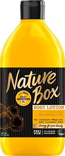 Nature Box Body Lotion Macadamia-Öl, 3er Pack (3 x 385 ml)