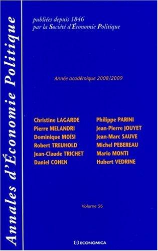 Annales d'Economie Politique, N° 56/2008-2009 :