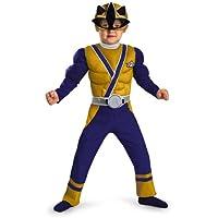Power Rangers Gold Ranger Samurai Muscle Chest Costume Child Toddler
