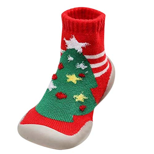 MERICAL Baby Girls Shoes Infant Toddler Boys Cartoon Christmas Xmas Winter Warm Socks Shoes