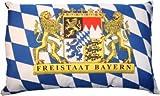 Freistaat Bayern Kissen Fan Artikel Auto Deko Freistaat Bayern beide Seiten bedruckt , ca. 28 x 40 cm.