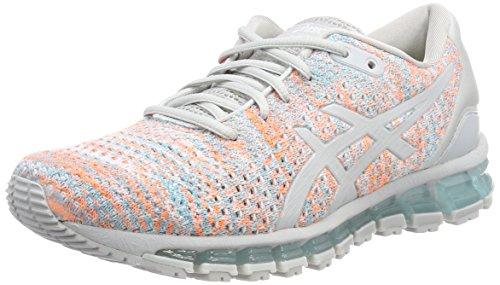 Asics Gel-Quantum 360 Knit 2, Zapatillas de Running para Mujer, (Glacier Grey/Orange Pop/Aruba Blue 9609), 39 EU