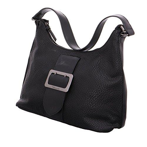 Tamaris Damen Lee Hobo Bag Schultertasche, 12 x 28 x 32 cm Schwarz (Black Comb)