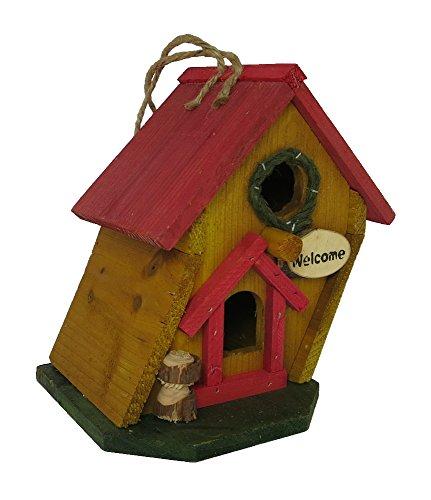 Vogelhaus aus Holz zum aufhängen oder hinstellen (18 x 19 x 14cm) - 2