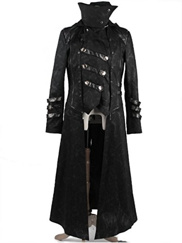 (Dark Dreams Steampunk Gothic Military Punk Rave Mantel Jacke Kapuze Scorpion M L XL XXL XXXL 4XL, Größe:XXL)