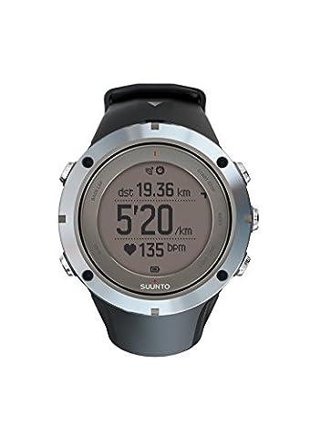 Suunto, Montre GPS Extérieure/Multisport Unisexe, Jusqu'à 30h d'Autonomie, Cardiofréquencemètre, Imperméable jusqu'à 100m, Ambit3 Peak Sapphire HR, Verre en Cristal, SS020676000