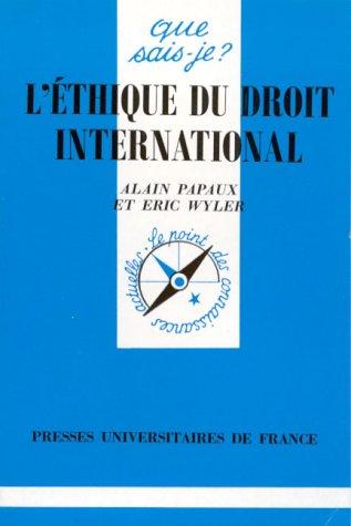 L'thique du droit international