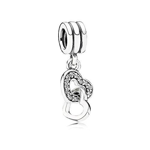 Pandora charm pendente cuori intrecciati
