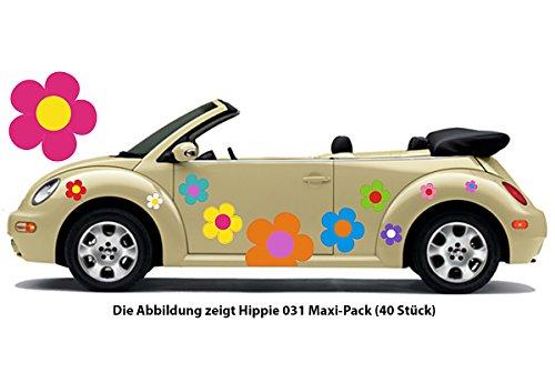 Pegatina de automóvil Hippie Flores Amores y Paz Plower Power Hippie