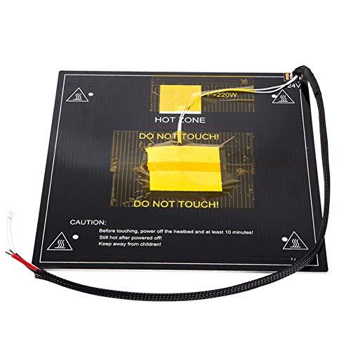 Ganquer Heiz Bett Platte Teile Panel Ersatz Dc 24V 3D Drucker Büro Blatt für Ender 3 - Wie Bilder Gezeigt, Free Size -