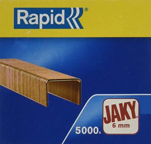 Rapid 11720001 Boîte de 5000 Agrafes JAKY/6 Cuivré