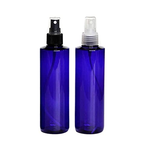 250ml Refillable Plastic Makeup Empty Sprayer Bottles Cosmetic Atomizers Spray Bottles Container Pack of 2 (Blue set)