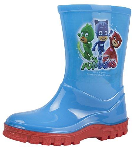 PJ Masks Boys Wellington Boots Blue Wellies Gekko Cat Boy Rain Snow Boots Size UK 5-10