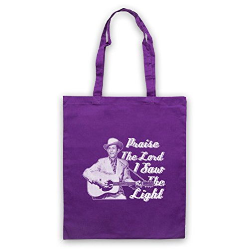 Inspiriert durch Hank Williams I Saw The Light Inoffiziell Umhangetaschen Violett