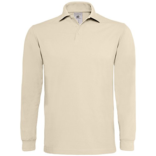 B&C Collection Heavymill long sleeve Sand