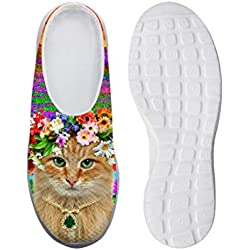 AXGM - Pantuflas para Hombre, diseño de Flores, Animales, Gatos, Estampadas, Unisex, para Adultos, Color, Talla 42 EU