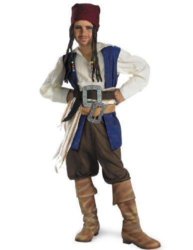 Disguise 156235 Fluch der Karibik-Jack Sparrow Kost-m Kind (Kinder Jack Sparrow Kostüm)