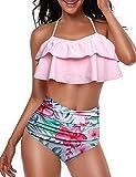 heekpek Conjunto de Bikini Mujer de Cintura Alta Traje de Baño de Dos Piezas...