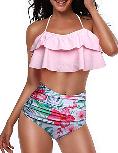 Heekpek Conjunto Bikini Mujer Cintura Alta Traje Baño