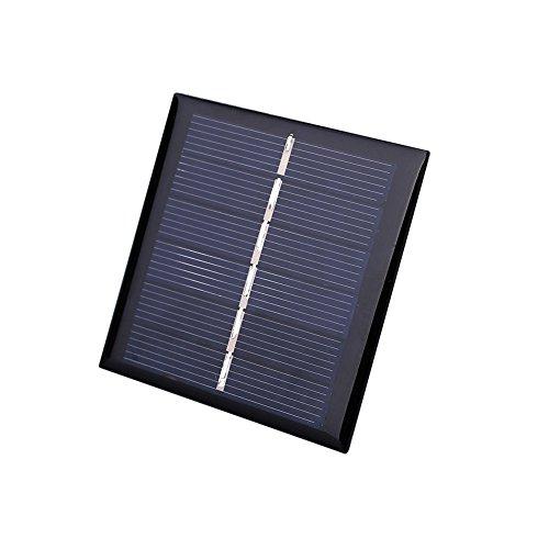 Especificaciones:  Color: negro  Material: Polisilicio  Papel: alimentación exterior  Tensión máxima de salida: DC 3V (luz)  Corriente de salida máxima: 140MA (bajo luz)  Potencia máxima: 0.42W (bajo luz fuerte)  Tamaño del producto: 5.4 * 5.4 * 0.3...