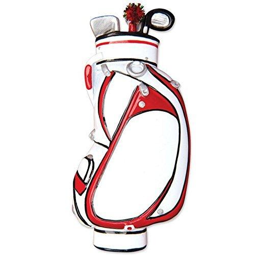 Sport Golf Bag Personalized Christmas Tree Ornament by Polar X