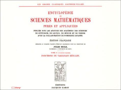 Encyclopédie des sciences mathématiques, tome II-volume 1 par Collectif