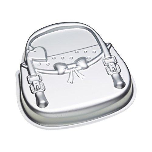 Kitchen Craft Kuchenform Sweetly Does It Handtaschen-Form 29x26x5cm in Silber, Aluminium, 12 x 17 x 22 cm