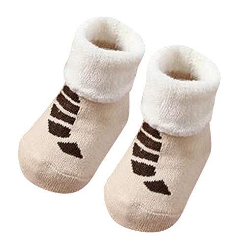 Mitlfuny Unisex Babyschuhe Mädchen Jungen Anti-Slip Socken Slipper Stiefel,Kinder Säuglingskleinkind Baby Jungen Mädchen Cartoon Tiere Rutschfeste gestrickte warme Socken -