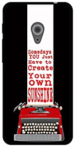 The Racoon Lean Sunshine hard plastic printed back case for Asus Zenfone 4 A450CG