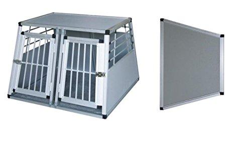 Alu-Transportbox zweitürig mit herausnehmbarer Trennwand