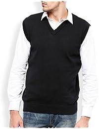 Plain Black Half Sleeve Sweater