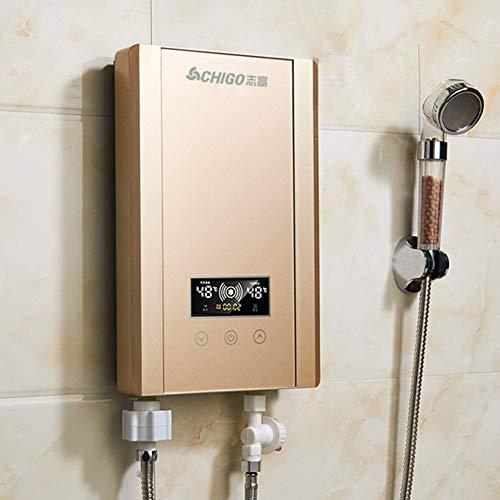MYRSQ 220V 8000W Calentador de Agua eléctrico instantáneo, Temperatura Constante Inteligente, Adecuado...