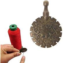 Cuigu Hilo para Cortar Colgante de Coser Hilo Redondo Forma Antiguo Bronce artesanía Bricolaje Herramienta