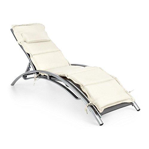 Blumfeldt Intermezzo  Sonnenliege  Relaxliege  verstellbare Rückenlehne und Armauflagen  5 cm...