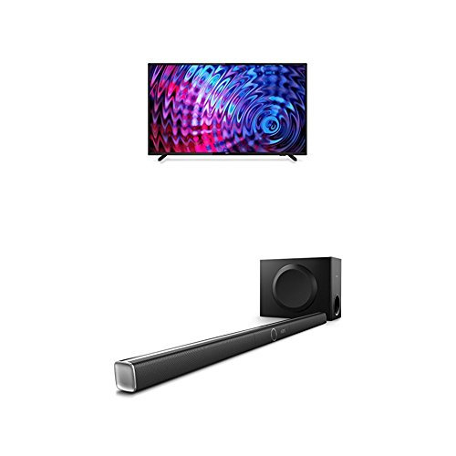 Philips 43PFT5503/05 43-Inch Full HD LED TV with Freeview HD and Philips HTL5160B/12 3.1 Streaming-Soundbar