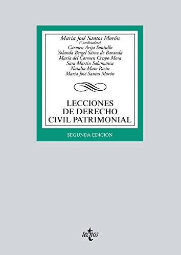Lecciones de Derecho Civil Patrimonial (Derecho - Biblioteca Universitaria De Editorial Tecnos) por María José Santos Morón