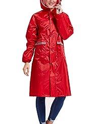 Babysbreath Impermeable Impermeable Mujeres Hombres Pareja Impermeable Trench Coat Rain Capa Rainwear Gear Rain Rain rojo XXL