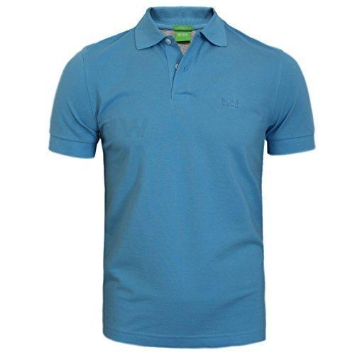 Studio Gerippt (Hugo Boss Herren Firenze Polo T-Shirt schwarz, Marineblau,weiß S,M, L,XL, XXL - offen blau, M)