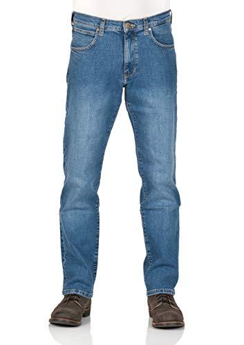 Wrangler Herren Jeans Arizona Regular Fit - Blue Burn - Cross Blue - Broke Blue, Größe:W 32 L 32, Farbe:Broke Blue (W12OHY32D)