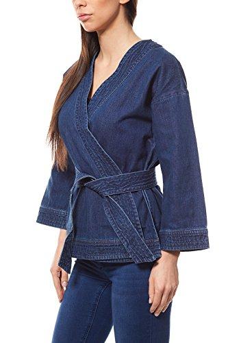 Noisy may NMAVA 7/8 Denim Kimono Jacket Jacke Damen Jeans-Kimono Denim Blau, Größenauswahl:L - Denim-kimono