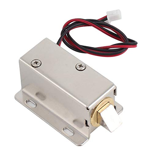 HoganeyVan Access Control Lock Professional Small DC 12V Open Frame Type Solenoid For Electric Door Lock with Low Power Consumption Stability
