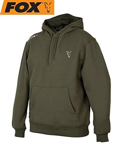 Fox Collection Green Silver Hoody - Angelpullover für Angler, Pullover für Karpfenangler, Hoddie, Kapuzenpulli, Kapuzenpullover, Größe:XL -