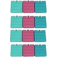 MAYF–Living acumulador Juego Mini Pequeño 7x 7,5x 1,5cm Mini batería Ice Pack Cool Pack para Fiambrera, 2X 3er Set