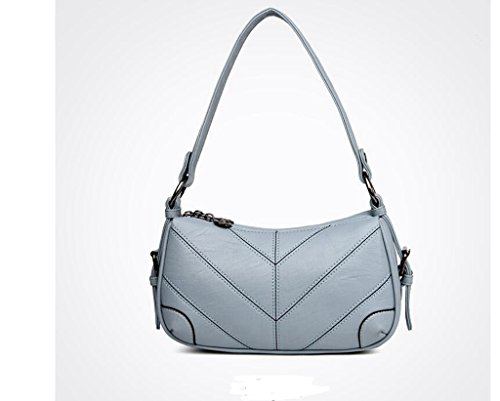 messenger bag Madre, il nuovo sacchetto femminile di mezza età, borse a tracolla signore di modo, ad alta capacità pacchetto diagonale Light blue