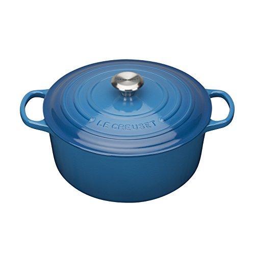 Le Creuset Evolution - Cocotte redonda, de hierro colado esmaltado, 20 cm, color azul marsella