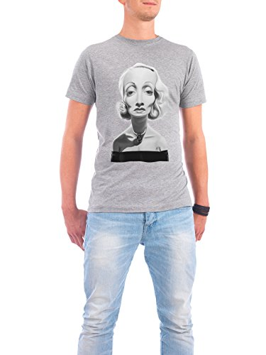 "Design T-Shirt Männer Continental Cotton ""Marlene Dietrich"" - stylisches Shirt Film Musik von Rob Snow Grau"