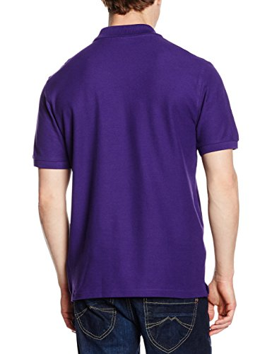 Fruit of the Loom Herren Poloshirt Violett