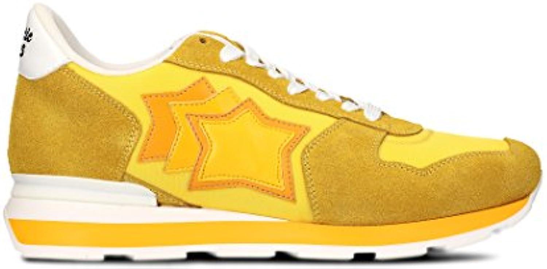 Atlantic Stars Hombre ANTARGS36B Amarillo Cuero Zapatillas  -