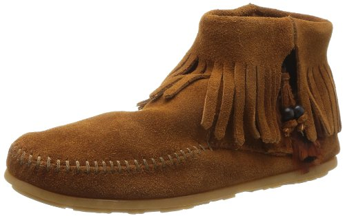 Minnetonka Concho/Feather Side Zip Boot 522 Damen Fashion Halbstiefel & Stiefeletten, Braun (Brown 2), 36 Zip Boot